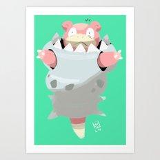 Mega Uncomfortable Slowbro Art Print