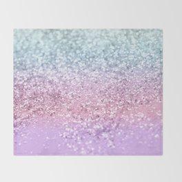 Unicorn Girls Glitter #4 #shiny #pastel #decor #art #society6 Throw Blanket