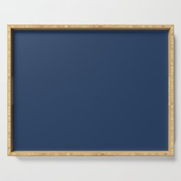 """Navy Peony"" pantone color Serving Tray"