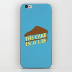 The Cake Is A Lie (Blue Version) iPhone & iPod Skin