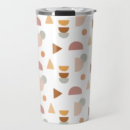 Abstract Pastel Pattern Travel Mug