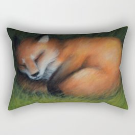 Sleeping fox Rectangular Pillow