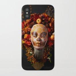 Pumpkin Harvest Muertita iPhone Case