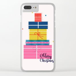 Pile of christmas presents Clear iPhone Case