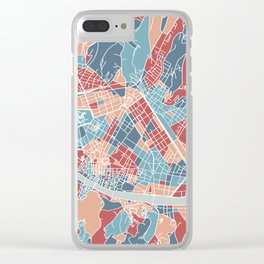 Florence map, Italy Clear iPhone Case