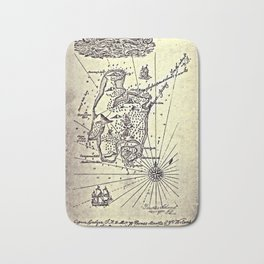 Map of Treasure Island (1883) Bath Mat