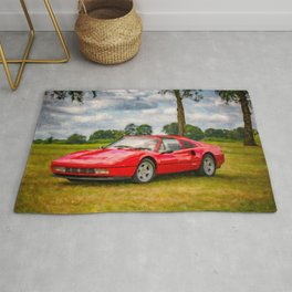 Red Sports Car 1987 Rug