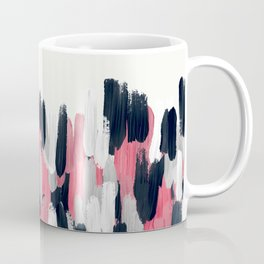 Pink, Blue, and Gray Brushstrokes Coffee Mug