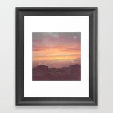 Sunset in the City Framed Art Print