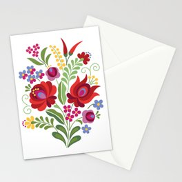 Hungarian Folk Design Red Peppers Stationery Cards