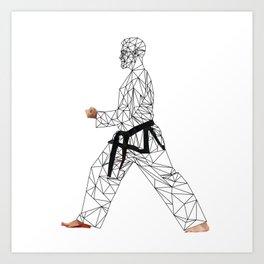 Martial arts master Art Print