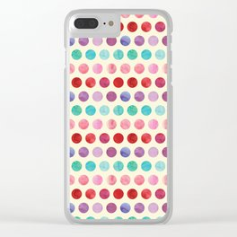 Watercolor Circles Pattern Clear iPhone Case