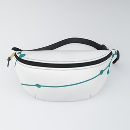 Pisces (Teal & White) Fanny Pack