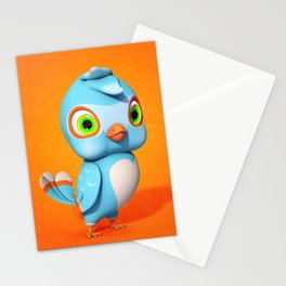 Toby Blue Bird Stationery Cards