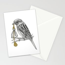 Air Looms the messenger Sparrow Stationery Cards