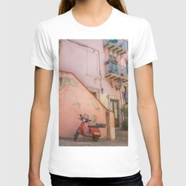 Red Scooter in Sicily T-shirt