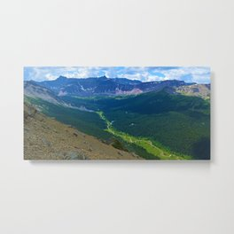 Views along the Bald Hills Hike in the Maligne Valley of Jasper National Park, Canada Metal Print
