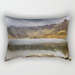 Lake Idwal Winter Rectangular Pillow