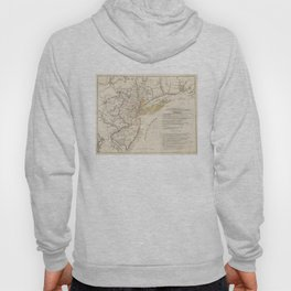 Vintage Map of New Jersey (1780) Hoody