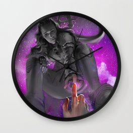 In Peace May You Leave the Shore Wall Clock