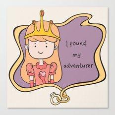 I Found My Adventurer - Princess Canvas Print