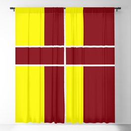 Team Colors 6....Maroon,yellow Blackout Curtain
