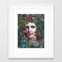 flora Framed Art Prints featuring Flora by Alvaro Arteaga