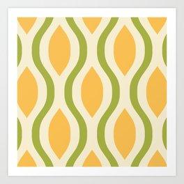 Pretty Ogee Pattern 371 Art Print