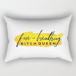 Fire-Breathing Bitch Queen Rectangular Pillow