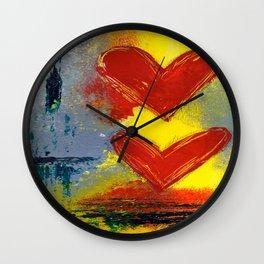 Double Love Wall Clock