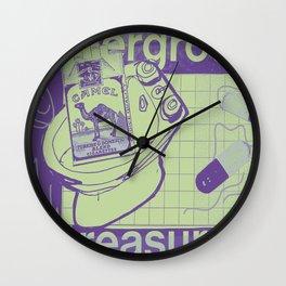 Underground Treasures Wall Clock
