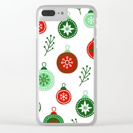 Christmas Decorations Pattern Clear iPhone Case