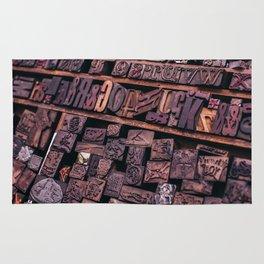 Wood Letterpress Rug