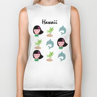 hawaii Biker Tanks featuring hawaii by Sucoco