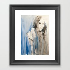 She was sorry that she did not choose Framed Art Print