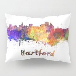 Hartford skyline in watercolor Pillow Sham