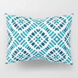 Shibori Watercolour no.7 Turquoise Pillow Sham