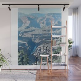 Colorado River at the Grand Canyon, South Rim, Bright Angel Trail by Christie Olstad Wall Mural