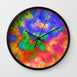 Colorfull Extrusion  Wall Clock