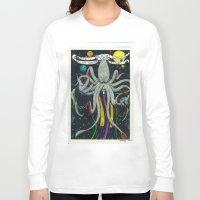 cthulu Long Sleeve T-shirts featuring Darrell Merrill Nerd Artist CTHULU PRIEST by Nerd Artist DM