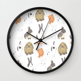 Rabbits and bunnies Wall Clock
