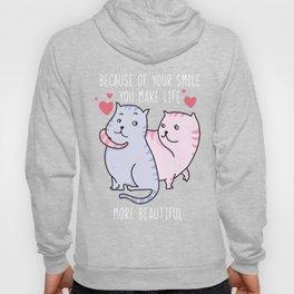Sweat cat love Hoody