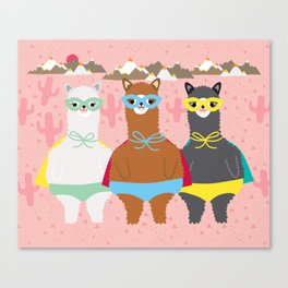 Alpaca Superheroes I Canvas Print