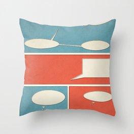 Empty Comic Throw Pillow
