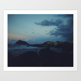 Sunset over Garachico, Tenerife Art Print