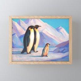 Happy Penguin Family Framed Mini Art Print