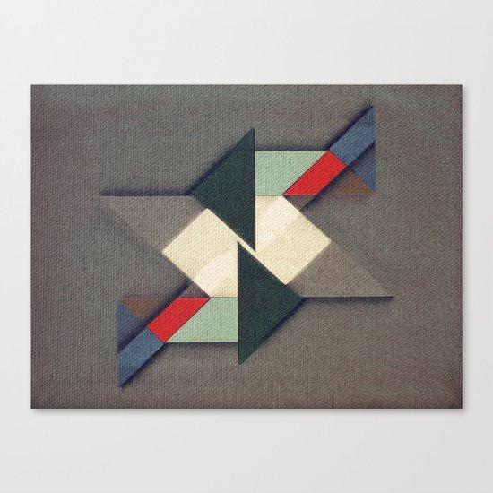 La Réunion Geometrique   Canvas Print