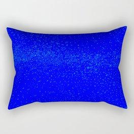 Blue Fleck Background Rectangular Pillow