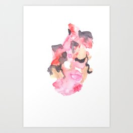 Watercolor Pink Black Gold Flow | [dec-connect] 52. breakfree Art Print