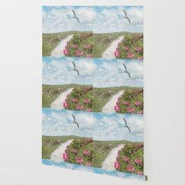 Coastal Trail and Beach Roses  Wallpaper